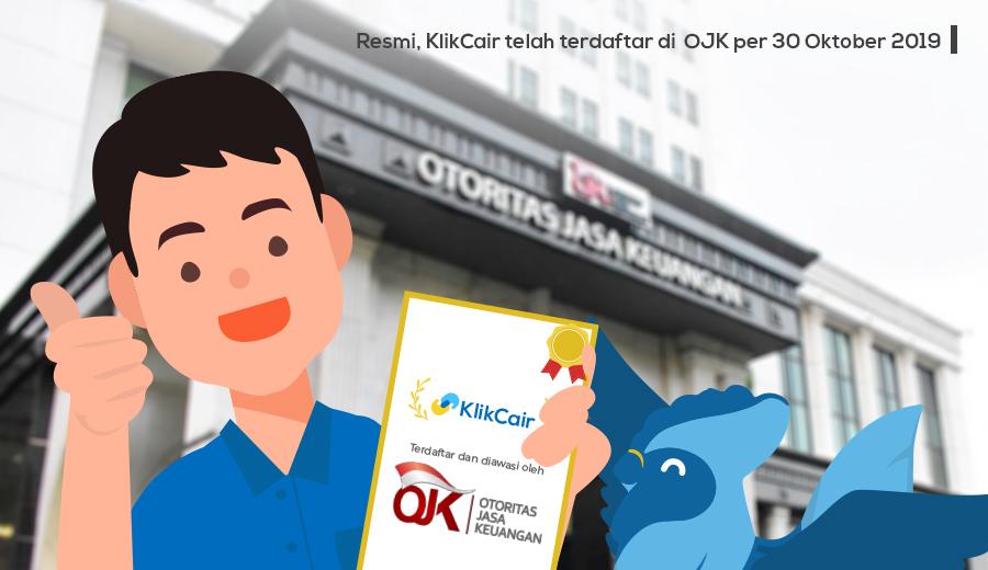 KlikCair terdaftar di OJK per 30 Oktober 2019